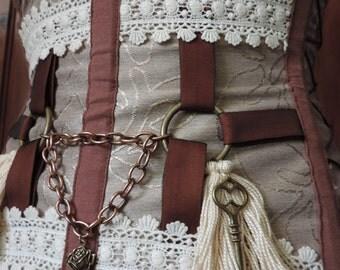 Bohemian steampunk corset