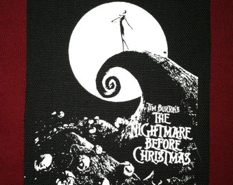 Nightmare Before Christmas Cloth Punk Patch