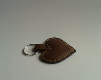 4 Small Handmade Leather Keyring