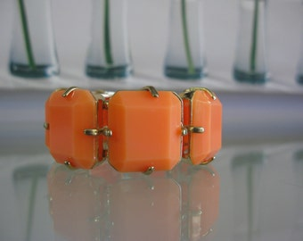 Orange Squared Statement Fashion Bracelet
