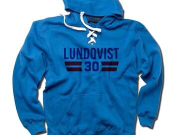 Henrik Lundqvist NHLPA Officially Licensed New York LACE Hoodie S-3XL Henrik Lundqvist Font B