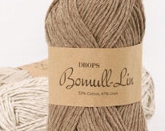 DROPS Bomull Linen 50% Cotton 50 Linen