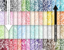 watercolor floral digital paper watercolour flowers texture hand painted rainbow color big pack decorative ornate pattern