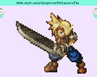 Final Fantasy Cloud Perler Magnet!