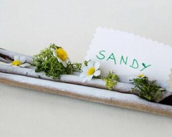 Natural bark placeholder, ltalian unique placeholder, made in ltaly placeholder, table decor, ltalian rustic placeholder, daisy placeholder