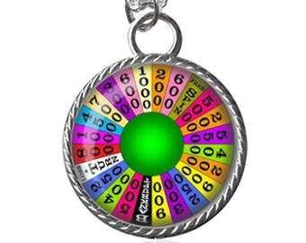 Wheel Of Fortune Necklace, Beautiful Art Image Pendant Key Chain Handmade