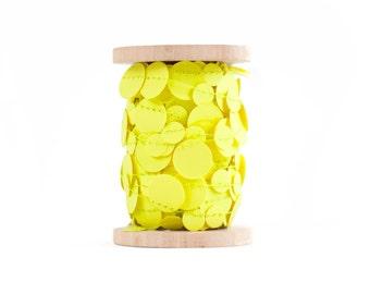 Neon Yellow Paper Garland