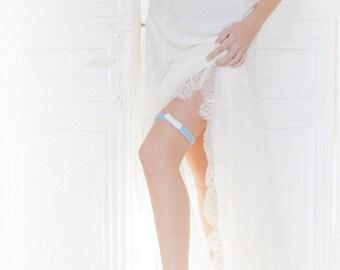 Edmee wedding garter / cornflower blue, Bridal Accessories, Garters, Bridal Garters, Something Blue Garters, Wedding Garter Set, Garter Set