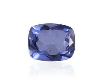 Blue Quartz Triplet Cushion Cut Loose Gemstone 1A Quality 10x8mm TGW 2.80 cts.