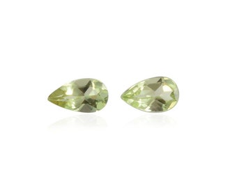 Hebei Peridot Loose Gemstones Set of 2 Pear Cut 1A Quality 5x3mm TGW 0.40 cts.