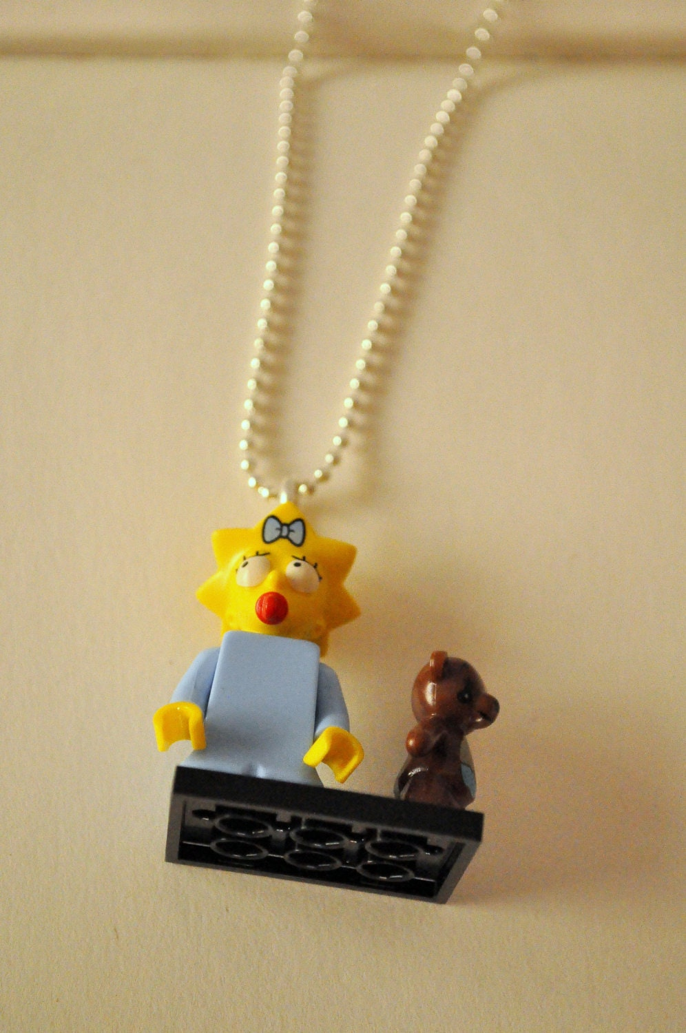 necklace with maggie lego pendant by riciclar on etsy