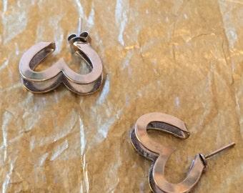 Open Heart Sterling Silver Earrings