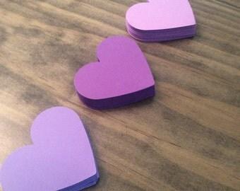 Purple Heart cutouts 2 3/8 inches, Purple Hearts