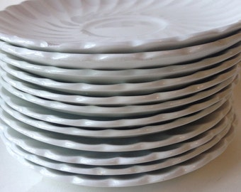 Johnson Brothers Regency White Saucer - China Plates - 12 Saucers