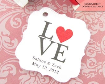 Love tag (30) - Wedding favor tag - Wedding tags - Wedding gift tags