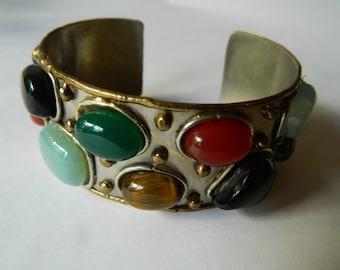 Stunning cuff bracelet- semi precious stones