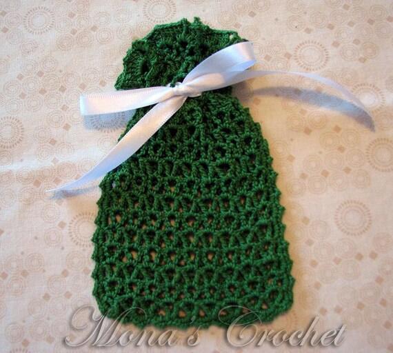Crochet Stitch Keeper : ... Stitch Soap Holder Soap Saver Sachet Bag Crochet Soap Holder