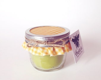 Apple Pie Scented Mason Jar Beeswax Candle