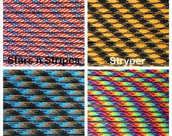 Paracord 550 Mil Spec Type III 7 strand Patterns Bracelet Necklace Survivor Parachute Cord 1-1000' Lengths