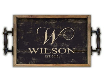 personalized trays custom trays personalized gifts wedding gifts wooden trays bridal gifts housewarming gifts decorative tray - Decorative Trays