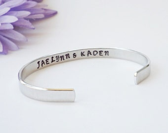Secret Message Cuff - Personalized Bracelet - Custom Bracelet - Girlfriend Gift - Gifts Under 20 - Personalized Gift - Stamped Cuff