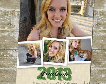 Picture Collage Graduation Announcement