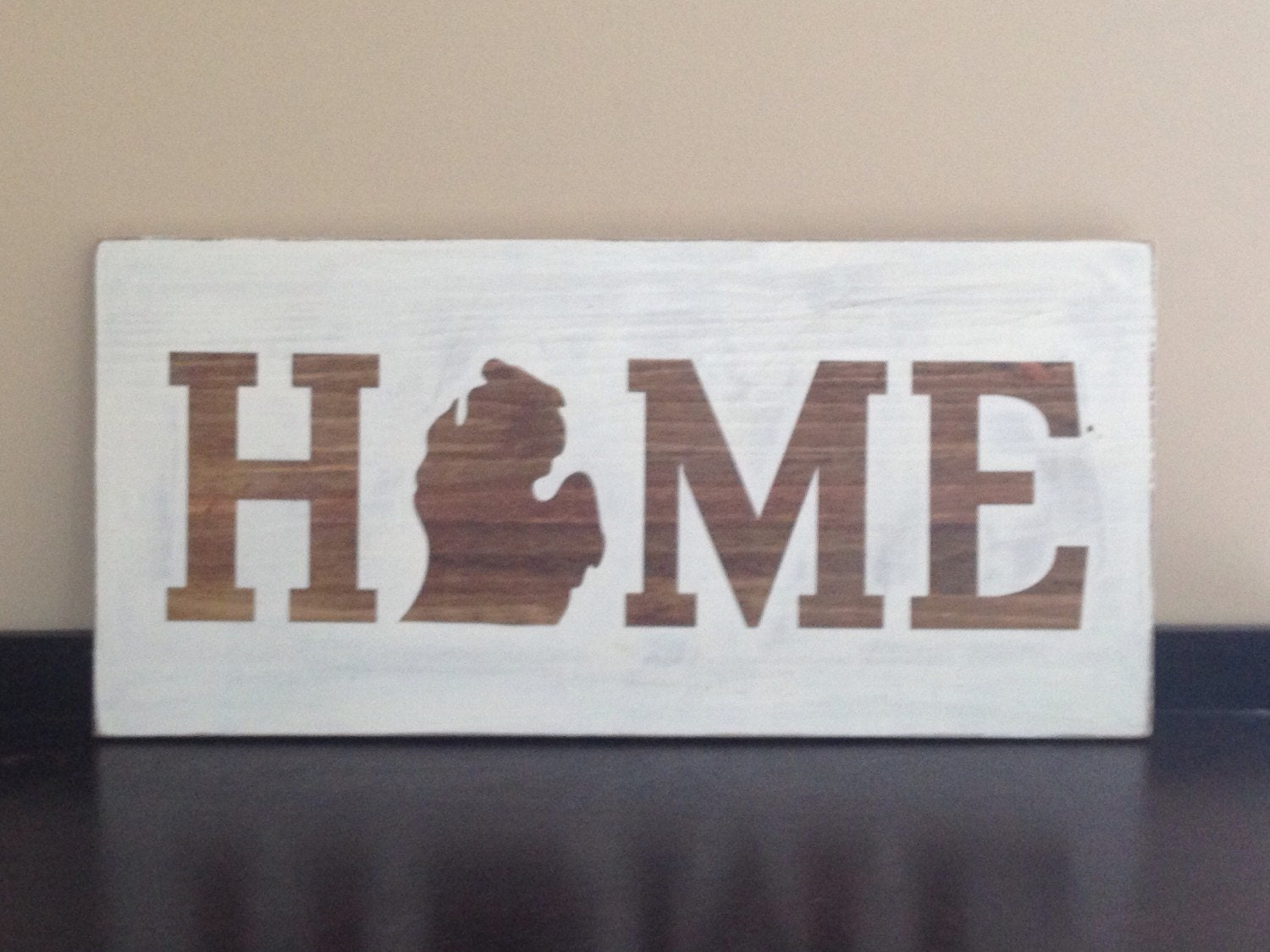 Michigan Home State Wall Decor Handpainted Mothers Day Gift