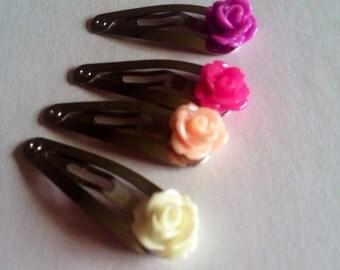 Rose hair clip set
