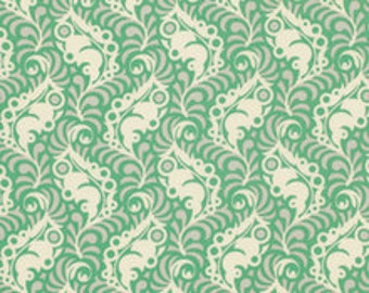 Lottie Da Collection, Featherleaf in Turquoise by Heather Bailey for Free Spirit Fabrics