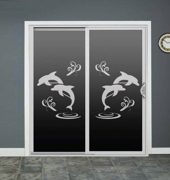 Dolphin Glass Door Decals Sliding Door Decal Door Stickers