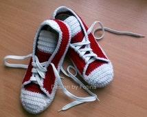 adult converse tennis shoes crochet pattern