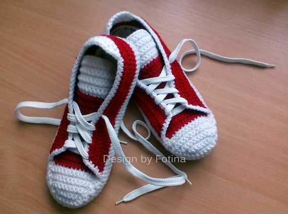 Crochet Converse Shoes For Adults