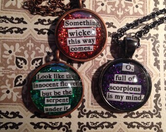 Macbeth Quote Necklace -Choose your own-