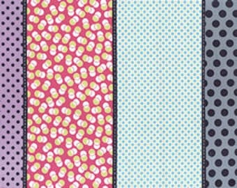 Gardenvale Snapdragron by Jen Kingwell for Moda-- Paneled Polka Dot Cotton Quilting Fabric-- By the yard 18100 12
