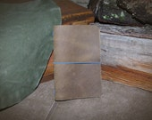 Field Notes - Moleskine Pocket Size - Midori Style - Leather Everyday Carry Cover - Distressed Brown