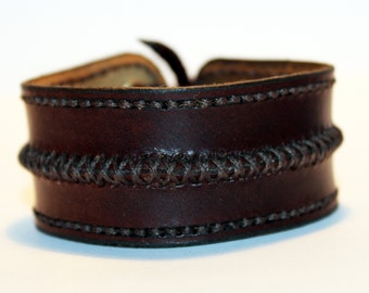 Leather cuff bracelet, brown handmade cuff, great bracelet, mens bracelet, womens bracelet, great gift, leather accessories