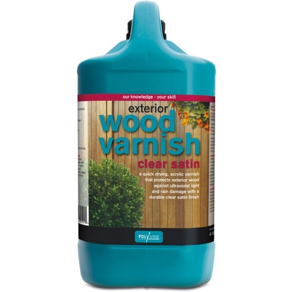 Polyvine Exterior Wood Varnish Satin With Uv Absorbers Gallon