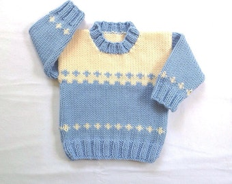 Baby sweater - 6 to 12 months - Knitted baby clothes - Baby shower gift - Infant sweater - Baby knits