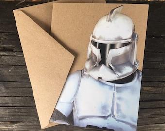 Star Wars  Storm Trooper Comic Book Greeting Card (Blank)