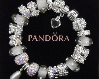 Pandora Bracelet or non-branded European charm bracelet~Genuine Swarovski Pearl~Free Shipping~Pandora hinged gift box!