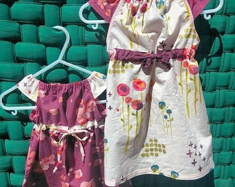 Organic Cotton Sundress - Handmade - size 3 mos to 8 yrs