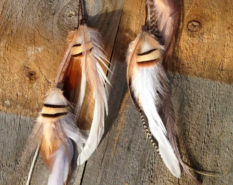 ANGEL PLUMES Tribal Clip in Feather Hair Extension