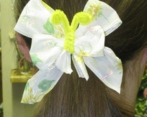 Craft Project Supplies - Ribbon Butterfly Fashion Accessories - Butterfly Hairbow Embellishments - Hair Bows - Wreath and Floral Accents