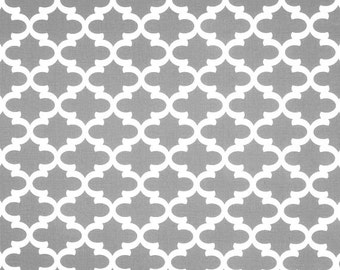 gray white geometric home decor fabric by the yard designer cotton drapery or upholstery - Home Decor Fabrics By The Yard