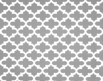 gray white geometric home decor fabric by the yard designer cotton drapery or upholstery fabric grey geometric home decor fabric g139 - Home Decor Fabrics By The Yard