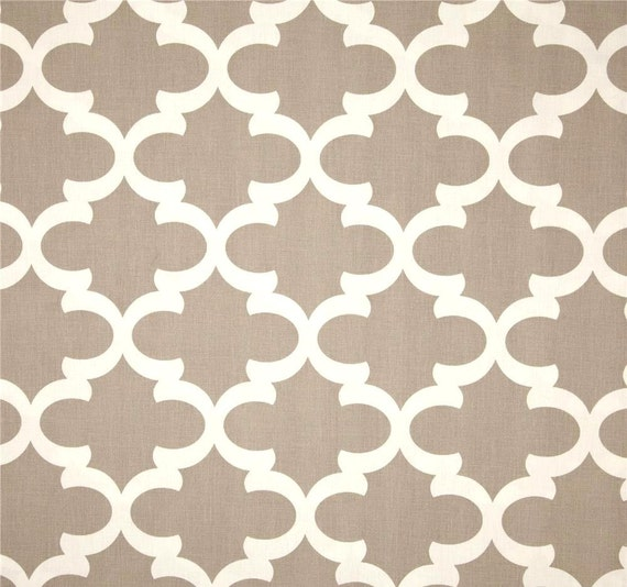 Contemporary home decor fabric by the yard designer taupe tan