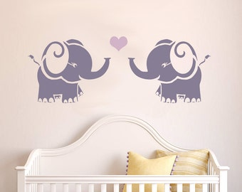 Elephant Reusable STENCIL For Kids Room / Nursery Wall Interior Decor /  Elephant Template