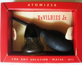 Vintage DeVilbiss Jr. Atomizer Original #182 Medical Nose,Throat,Medicine
