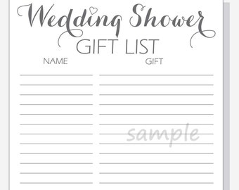 wedding gift lists