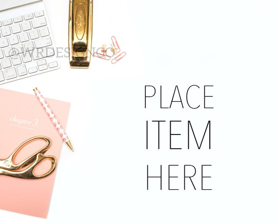 INSTANT DOWNLOAD | Pink U0026 Gold Styled Stock Photo Desk Styled Office  Stylized Image High Res Desk Photography Mock Desk Photograph Flat Lay
